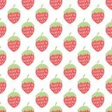 Nahtloses Muster der Erdbeere Stockbilder