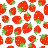 Nahtloses Muster der Erdbeere Lizenzfreie Stockfotos