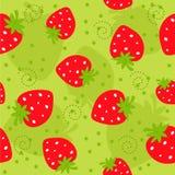 Nahtloses Muster der Erdbeere Lizenzfreie Stockbilder