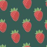 Nahtloses Muster der Erdbeere Lizenzfreies Stockbild