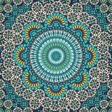 Nahtloses Muster in der ethnischen Art des Mosaiks. Lizenzfreies Stockbild