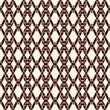 Nahtloses Muster der ethnischen Art mit wiederholten Diamanten Hintergrund der amerikanischen Ureinwohner Stammes- Motiv Eklektis Lizenzfreies Stockfoto