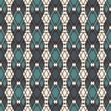 Nahtloses Muster der ethnischen Art mit wiederholten Diamanten Hintergrund der amerikanischen Ureinwohner Stammes- Motiv Eklektis Stockbilder