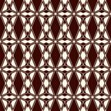 Nahtloses Muster der ethnischen Art mit wiederholten Diamanten Hintergrund der amerikanischen Ureinwohner Stammes- Motiv Eklektis lizenzfreie abbildung