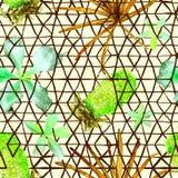 Nahtloses Muster der exotischen Geometrie Lizenzfreie Stockbilder