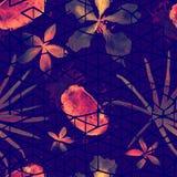 Nahtloses Muster der exotischen Geometrie Lizenzfreie Stockfotografie
