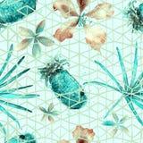 Nahtloses Muster der exotischen Geometrie Stockbilder