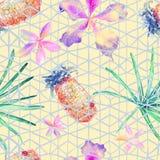 Nahtloses Muster der exotischen Geometrie Stockbild
