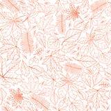 Nahtloses Muster der Fallblatt-Natur Autumn Leaves Background Sea stockfoto