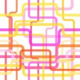 Nahtloses Muster der Farblinien, verwirrter Streifenhintergrund für Begriffsprojektplanungen Vektor Stockfotografie