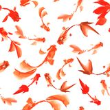 Nahtloses Muster der Fische Stockbild
