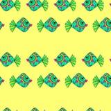 Nahtloses Muster der Fische Lizenzfreie Stockfotos