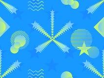 Nahtloses Muster der flüssigen Farbform Geometrische Elemente Memphis, Art der achtziger Jahre Moderne bunte Gegenstände Vektor Lizenzfreies Stockfoto