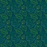 Nahtloses Muster der frischen Blätter im Vektor Endloser Hintergrund des bunten Laubs Lizenzfreies Stockfoto