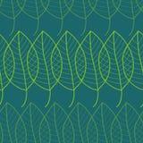 Nahtloses Muster der frischen Blätter im Vektor Endloser Hintergrund des grünen Laubs Lizenzfreies Stockbild