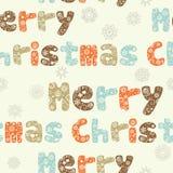 Nahtloses Muster der frohen Weihnachten Stockfotografie