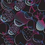 Nahtloses Muster der Frucht Das Bild von Früchten und von Beeren Stockbild