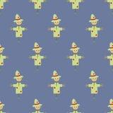 Nahtloses Muster der Garten-Vogelscheuche Lizenzfreie Stockfotografie