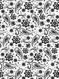 Nahtloses Muster der Gekritzelblumen Stockfoto