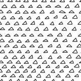 Nahtloses Muster der Gekritzeldreiecke Stockbild