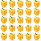 Nahtloses Muster der gelben Gemüsepaprikas Lizenzfreies Stockfoto