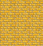 Nahtloses Muster der gelben Maurerarbeit. Lizenzfreies Stockbild
