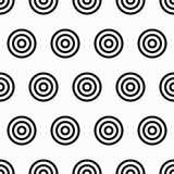 Nahtloses Muster der Geometrie mit konzentrischen Kreisen Stockfotos