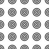 Nahtloses Muster der Geometrie mit konzentrischen Kreisen Stockfotografie