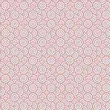 Nahtloses Muster der Geometrie mit konzentrischen Kreisen Lizenzfreie Stockfotografie