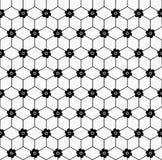 Nahtloses Muster der geometrischen Blume Stockfoto