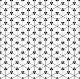 Nahtloses Muster der geometrischen Blume Lizenzfreies Stockfoto