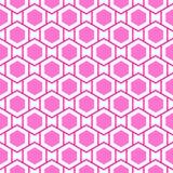 Nahtloses Muster der geometrischen Hexagone Lizenzfreie Stockfotografie