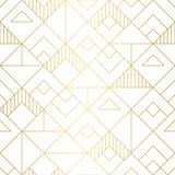 Nahtloses Muster der geometrischen Quadrate mit mnimalistic Goldentwurf lizenzfreies stockbild