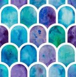 Nahtloses Muster der geometrischen Skalen Stockfotografie