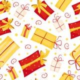 Nahtloses Muster der Geschenkkästen Lizenzfreie Stockfotos