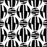 Nahtloses Muster der gestreiften Kreisoptischer täuschung Stockbilder