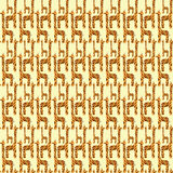 Nahtloses Muster der Giraffe Lizenzfreie Stockfotos