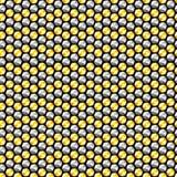 Nahtloses Muster der Gold- und Silberkristallpaillette Stockbild