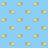 Nahtloses Muster der goldenen Fische Lizenzfreies Stockbild