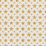 Nahtloses Muster der goldenen Funkelnsternblumen-Symmetrie Lizenzfreie Stockbilder