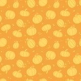 Nahtloses Muster der goldenen Kürbise der Danksagung Lizenzfreie Stockfotografie