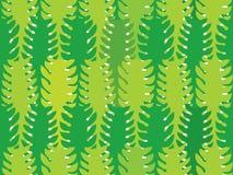Nahtloses Muster der Grünalgen Stockbilder