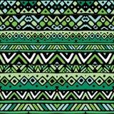 Nahtloses Muster der grünen ethnischen mexikanischen Stammes- Streifen Stockbild