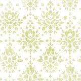 Nahtloses Muster der grünen Textildamast-Blume Stockbild