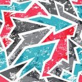Nahtloses Muster der Graffiti mit Schmutzeffekt Lizenzfreies Stockbild