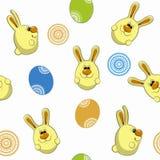 Nahtloses Muster der Häschen- und Ostereier Stockbilder