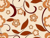 Nahtloses Muster der hölzernen Blumen Lizenzfreies Stockbild