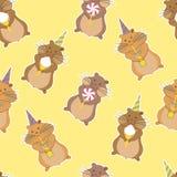 Nahtloses Muster der Hamsterpartei Stockfotografie