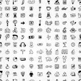 Nahtloses Muster der Handbetragweb-Ikonen stock abbildung