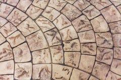 Nahtloses Muster der hellbraunen Steinpflasterung Lizenzfreies Stockfoto